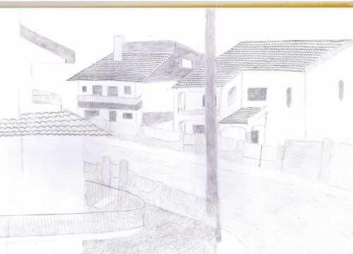 Ana Campos, 9ºA - O que vejo da janela do meu quarto