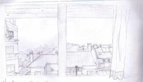 José Castanheira, 9ºA - O que vejo da janela do meu quarto