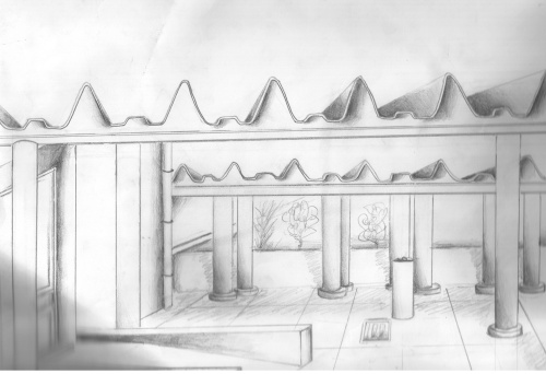 Uma vista da escola - Ricardo Veiga 9ºF