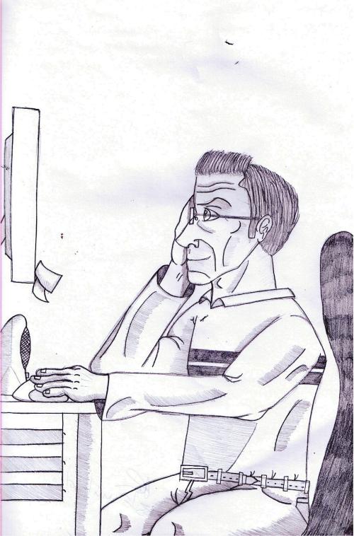 O pai a trabalhar - José Ricardo 9º A