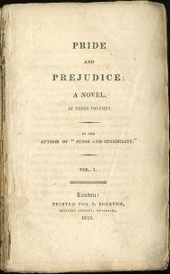 """1ª edição de """"Orgulho e Preconceito"""""""