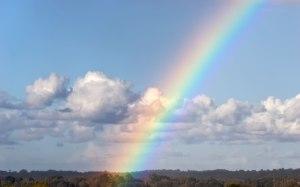 rainbow-blue-sky