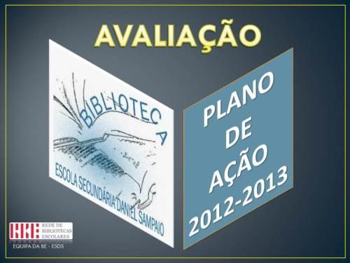 AVALIAÇÃO PA 2012-13