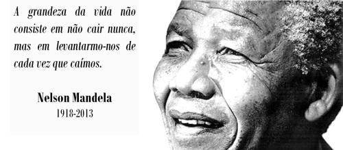 """Palavras dos Outros - Nelson Mandela (1918-2013), """"Sobre a grandeza"""""""