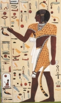Fig. 7 - Sacerdote com pele de leopardo