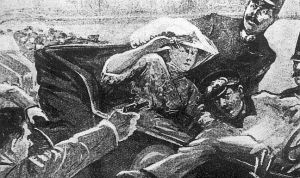 ilustração do assassinato