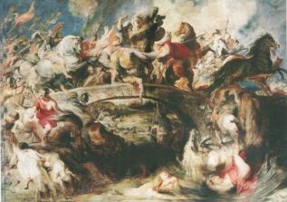 Rubens, A Batalha das Amazonas, 1615