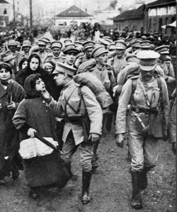 embarque para a Flandres em St. Apolónia - 1917