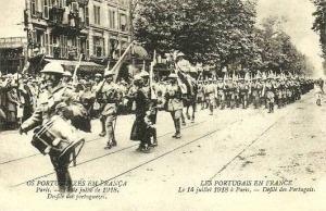 desfile português na Parada da Vitória