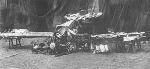 Destroços do avião abatido do Barão Vermelho