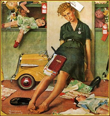 """tired"" (cansada), Norman rockwell, 1947"