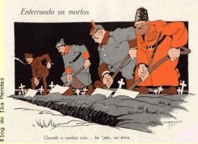 8 - charges sobre a Primeira Guerra Mundial - Revista A Cigarra - 1917 - Blog do IBA MENDES...