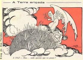 8 - charges sobre a Primeira Guerra Mundial - Revista A Cigarra - 1917 - Blog do IBA MENDES....