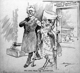 Sátira da época ao Tratado de Versalhes