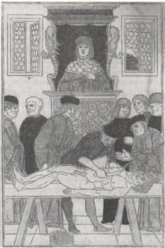 Fig.3- Fascículo de medicina, 1494. Reprodução de gravura em madeira