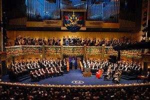 cerimónia de entregue dos Nobel