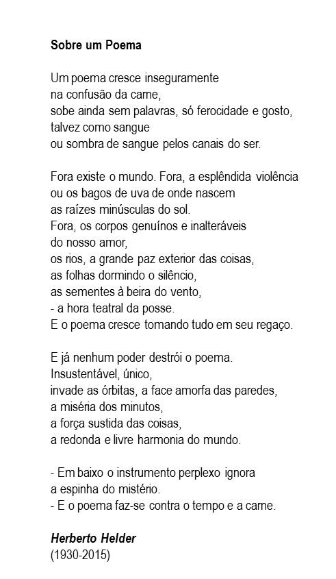 sobre um poema