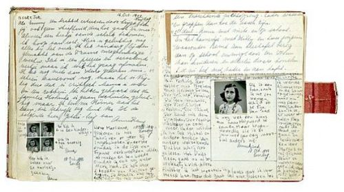 páginas do diário de Anne Frank