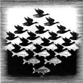 """fig.2 -""""O céu e o mar"""" (Escher)"""