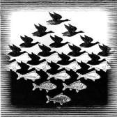 "fig.2 -""O céu e o mar"" (Escher)"