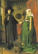 Fig. 9 - Van Eyck, casal Arnolfini, 1434