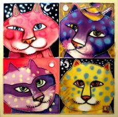 fourpackcoloredcats