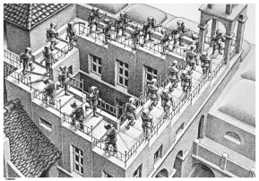 Fig. 2 Escada acima, escada abaixo, 1960
