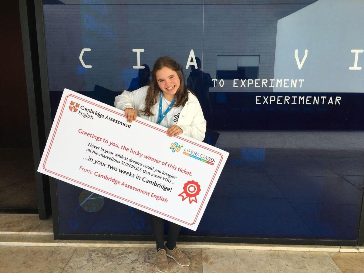 Concurso Literacia 3D - Marta Vasconcelos ganha a final!